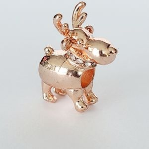 Jewelry - 🦌 Super Cute 3D Raindeer Deer Rose Gold Charm